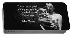 Mae West Quote Portable Battery Charger
