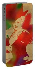 Mae West Watercolor Portrait Portable Battery Charger