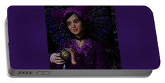 Portable Battery Charger featuring the painting Magdalene Of Nagasaki by Suzanne Silvir