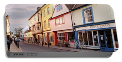 Portable Battery Charger featuring the photograph Magdalene Street Cambridge by Gill Billington