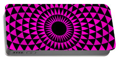 Portable Battery Charger featuring the digital art Magenta Balance by Lucia Sirna
