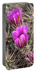 Magenta Cactus Flowers Portable Battery Charger