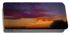 Magenta Morning Sky Portable Battery Charger