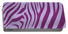 Magenta Zebra Portable Battery Charger