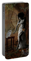 Portable Battery Charger featuring the digital art Maggie's World by Nola Lee Kelsey