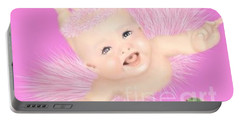 Magic Baby Face-pink Angle Portable Battery Charger