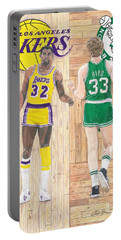 Magic Johnson And Larry Bird Portable Battery Charger