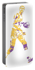 Magic Johnson Los Angeles Lakers Pixel Art 5 Portable Battery Charger