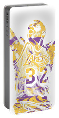 Magic Johnson Los Angeles Lakers Pixel Art 7 Portable Battery Charger
