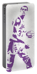 Magic Johnson Los Angeles Lakers Pixel Art Portable Battery Charger