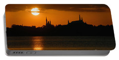 Magic Kingdom Sunset Portable Battery Charger by David Lee Thompson
