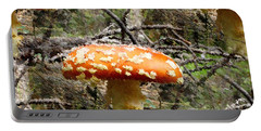 Portable Battery Charger featuring the photograph Magic Mushrooms by Natalie Ortiz