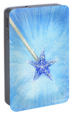 Portable Battery Charger featuring the painting Magic Wand by Cindy Garber Iverson
