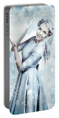 Magic Winter Woman In Luxury Fashion And Makeup Portable Battery Charger