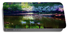 Magical Beauty At The Azalea Pond Portable Battery Charger