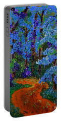 Magical Blue Forest Portable Battery Charger