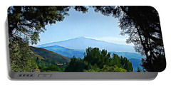 Portable Battery Charger featuring the photograph Magical Etna by Lucia Sirna