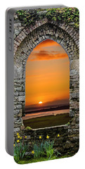 Portable Battery Charger featuring the photograph Magical Irish Spring Sunrise by James Truett