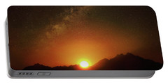 Magical Milkyway Above The African Mountains Portable Battery Charger