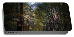 Magical Moonlit Forest Portable Battery Charger by Judy Palkimas