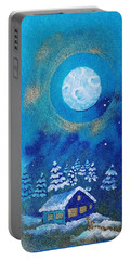 Magical Night At The Cabin Portable Battery Charger