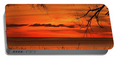 Magical Orange Sunset Sky Portable Battery Charger