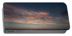 Magical Sunset Portable Battery Charger by Laura Melis