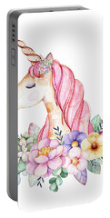 Magical Watercolor Unicorn Portable Battery Charger