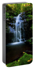 Magical Waterfall Above Spruce Falls In Tremont Smoky Mountains Tennessee  Portable Battery Charger