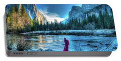 Magical Winter In Yosemite Portable Battery Charger