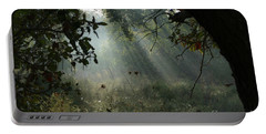 Portable Battery Charger featuring the photograph Magical Woodland Lighting by Arik Baltinester