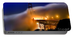 Magical Golden Gate Bridge In The Moonlight Portable Battery Charger