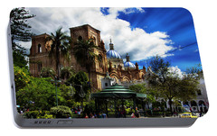 Portable Battery Charger featuring the photograph Magnificent Center Of Cuenca, Ecuador IIi by Al Bourassa