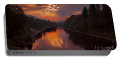 Magnificent Clouds Over Rogue River Oregon At Sunset  Portable Battery Charger