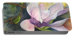 Portable Battery Charger featuring the painting Magnificent Magnolia by Lucia Grilletto