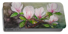 Magnolia Blossom - Painting Portable Battery Charger