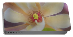 Magnolia Blossom Portable Battery Charger by Tom Singleton