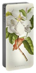 Magnolia Botanical Print Portable Battery Charger