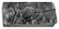 Magnolia Bw Blooms Buds Branches Portable Battery Charger