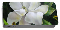 Magnolia Oil Painting Portable Battery Charger