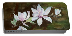 Magnolia - Painting  Portable Battery Charger by Veronica Rickard