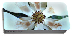 Magnolia Pinwheel Portable Battery Charger by Nancy Kane Chapman