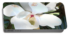 Magnolia Tree Bloom Portable Battery Charger by Debra Crank