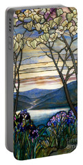 Magnolias And Irises Portable Battery Charger