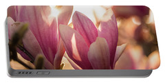 Magnolias At Sunset Portable Battery Charger