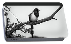 Magpie  Portable Battery Charger by Philip Openshaw