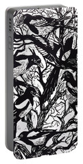Magpies Portable Battery Charger by Nat Morley