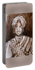 Maharajah Duleep Singh Black And White Portrait  Portable Battery Charger
