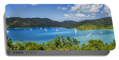 Portable Battery Charger featuring the photograph Maho And Francis Bays On St. John, Usvi by Adam Romanowicz