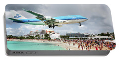 Maho Beach Caribbean Island Of St Maarten Portable Battery Charger